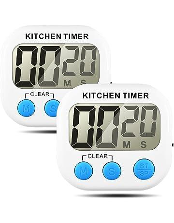 Temporizador de cocina, Senhai Count up / down Gran pantalla LCD Electrónica Temporizador de memoria