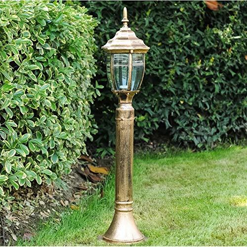 Rishx Retro Black/Bronze Garden Path Street Lamp Outdoor Die-Casting Aluminum Fitting Europe Landscape Lighting Rainproof Patio Desktop Post Light Column Pillar Lantern (Color : Bronze)