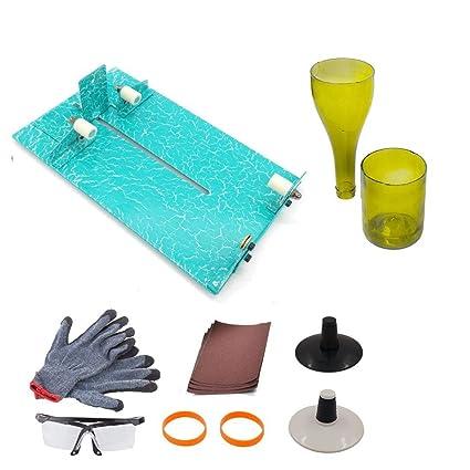 Cortador de botellas de cristal, kit de herramientas de corte de cristal para manualidades de