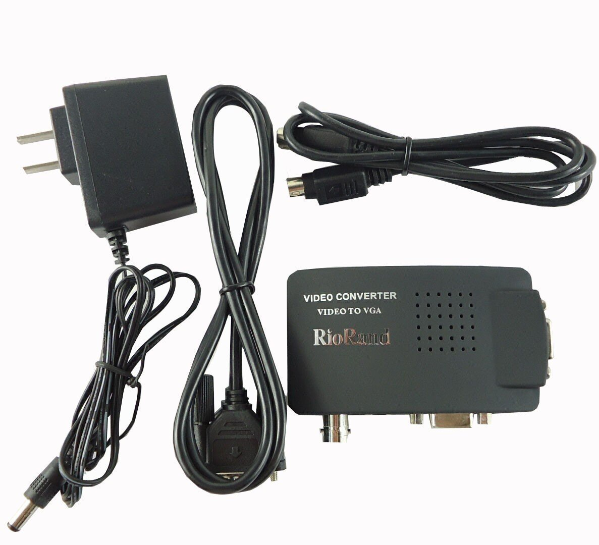 RioRand Video Converters Cctv Camera Bnc S-Video Vga To Laptop Computer Pc Monitor Converter Adapter Box