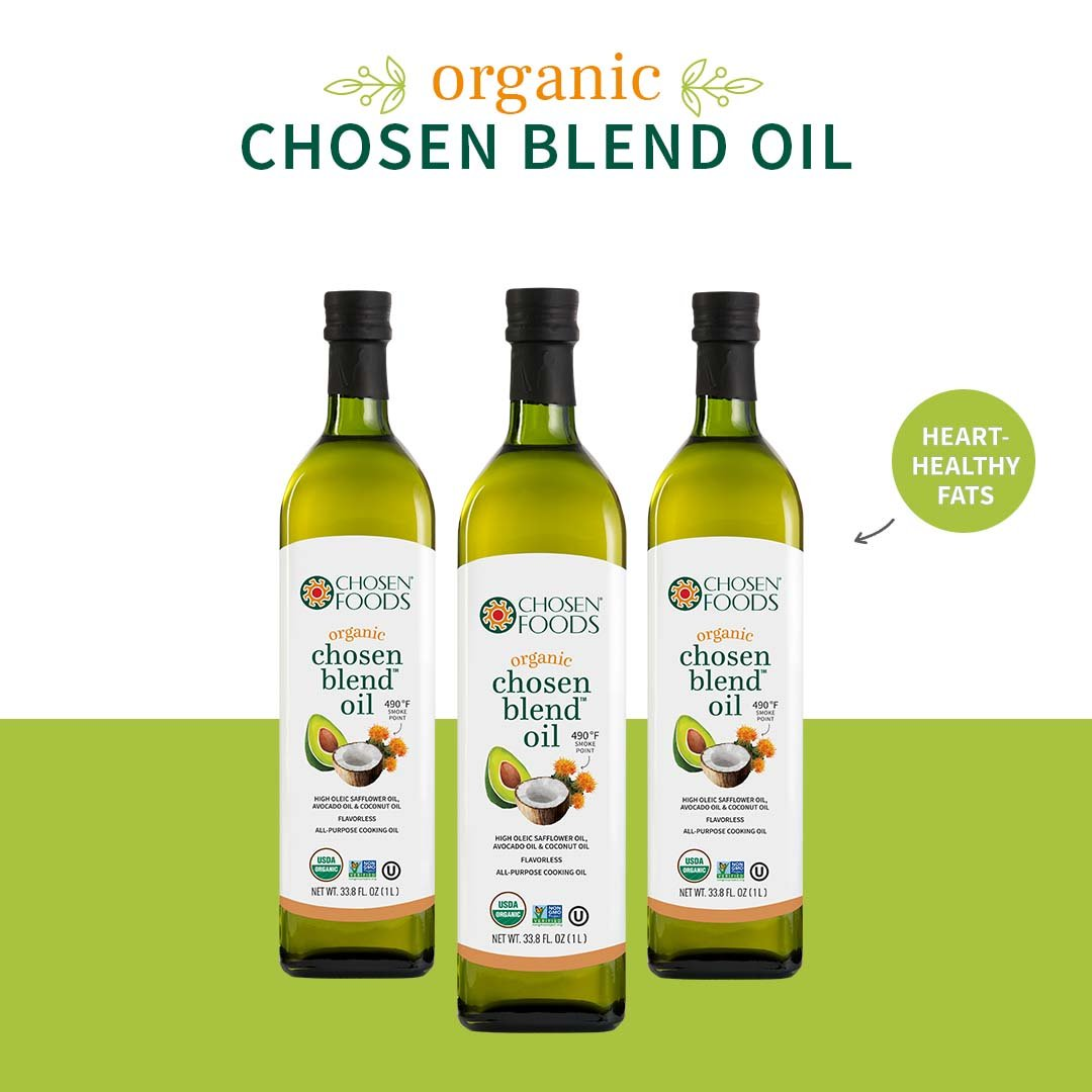 Chosen Foods Organic Chosen Blend Oil 1 L, Non-GMO for High-Heat Cooking, Baking, Frying, 490° F Smoke Point by Chosen Foods (Image #4)