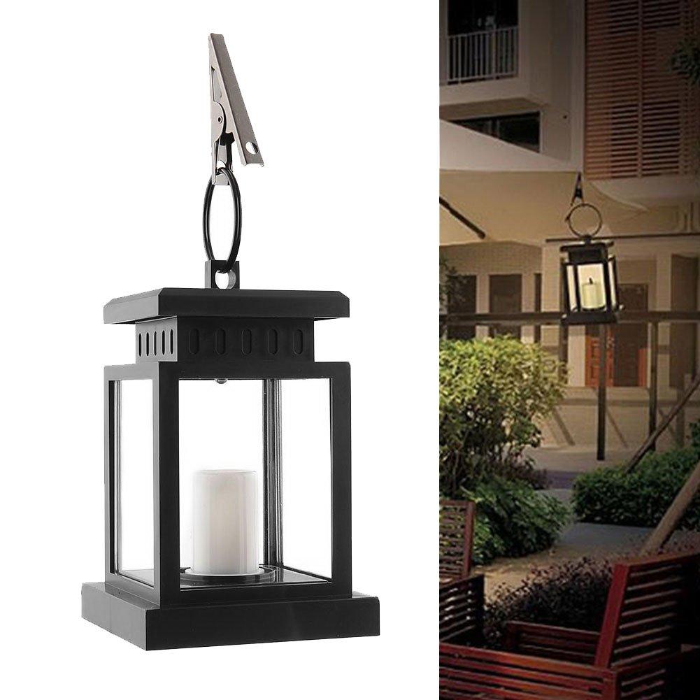 Waterproof Vintage Solar Led Lantern Light with Clamp for Beach Umbrella Hanging Pavilion Garden Yard Lighting by Beisaqi (Image #1)
