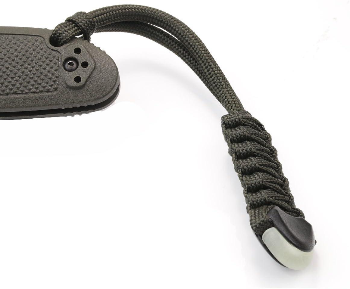3 cordones para equipos tácticos y navajas de alta calidad ZaneGear, fabricados en Estados Unidos, para equipos tácticos de exteriores, navajas de bolsillo como Benchmade y otras, tiradores con cremallera, correas con