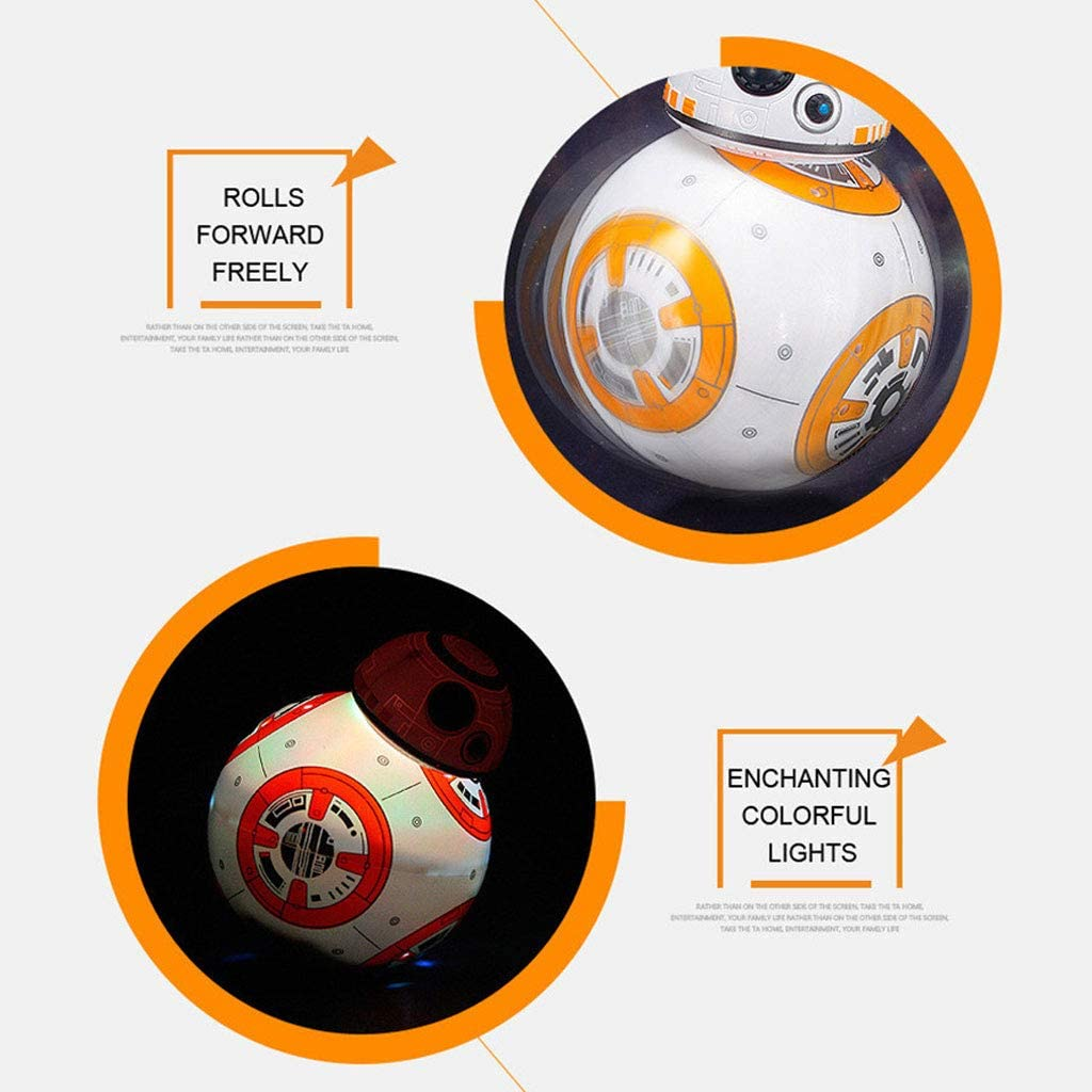 JXM Star Wars RC BB8 Intelligent Upgrade Small Ball 2.4G Remote Control Robot BB-8 Action Figure Kid Toy Gift with Sound Model Gift