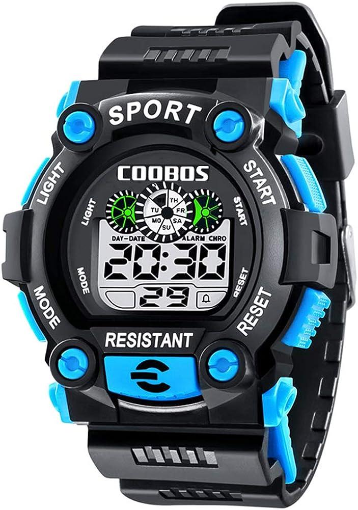 Reloj de Pulsera Deportivo Digital para Hombre, Resistente al Agua, con Alarma para niños y niños como Regalo