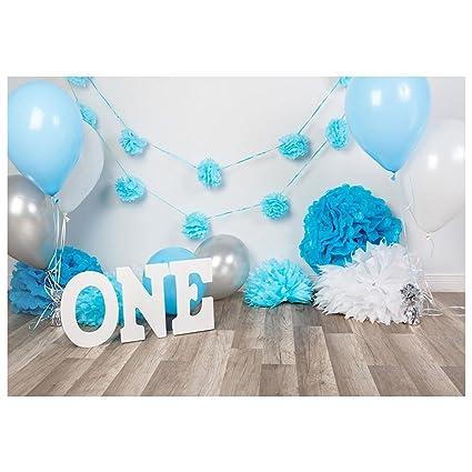 TOOGOO(R) 7 x 5ft Photography bebé niños primer cumpleaños ...