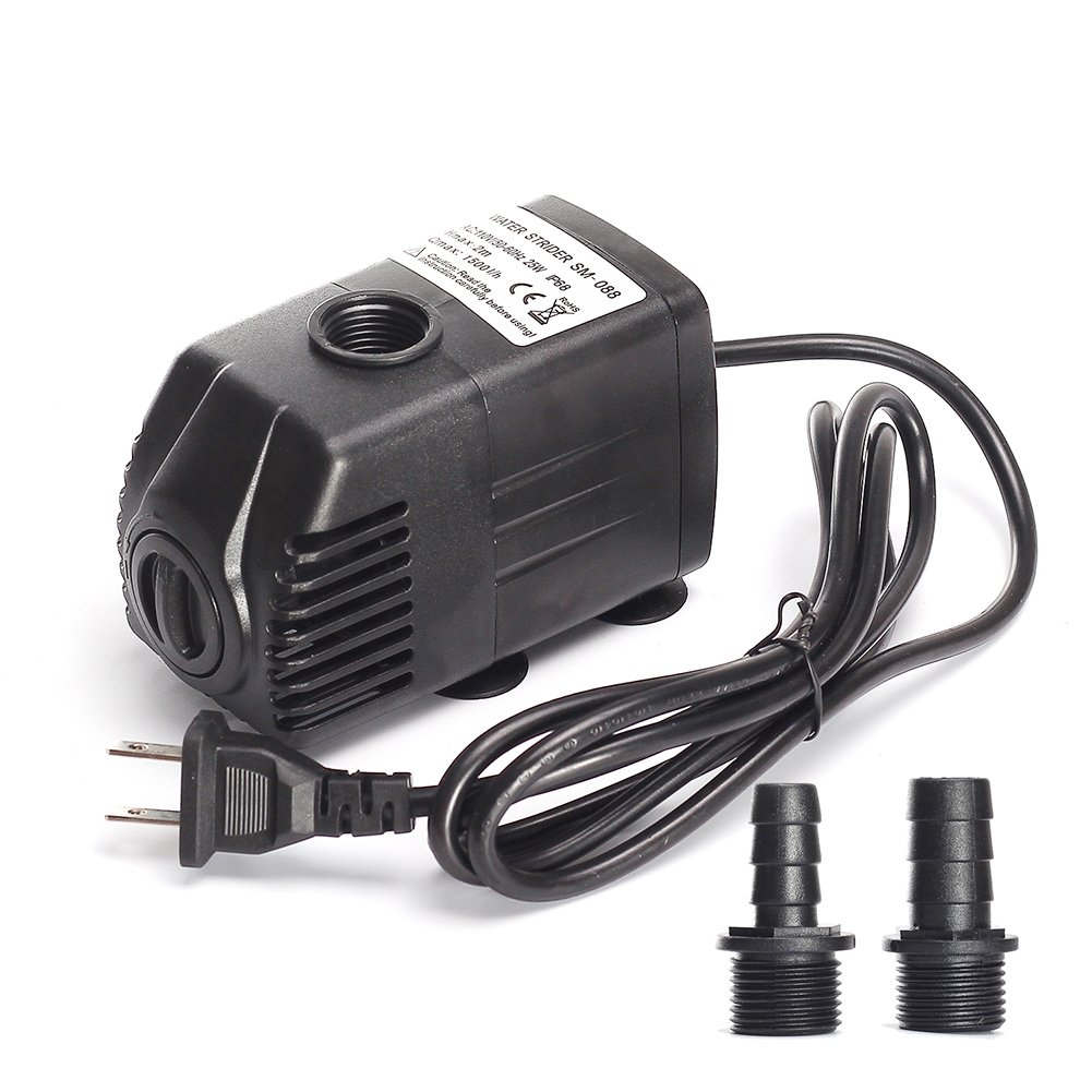 Coohome 400 GPH (1500L/H,25W),Submersible Pump, Adjustable Aquarium Pump, Powerful Pond Pump, Fountain Pump with 4.9ft Power Cord,6.56ft High Lift for Fish Tank, Statuary, Pond, Hydroponics