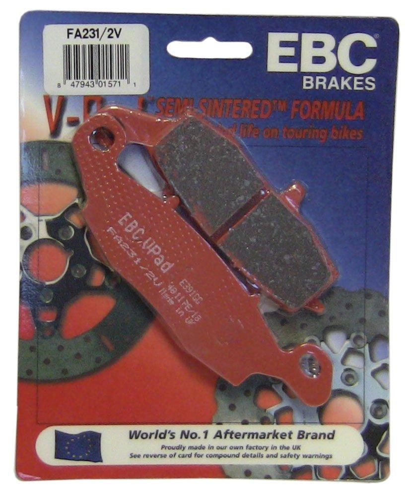 EBC Brakes FA231/2V Semi Sintered Disc Brake Pad