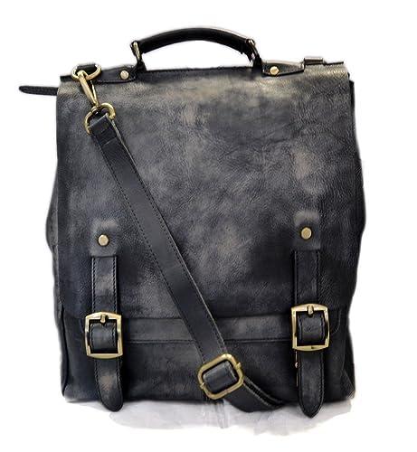 a15c23e02b5 Bolso de cuero bandolera de piel bolso vintage espalda hombre mujer de piel  bolso messenger bolso