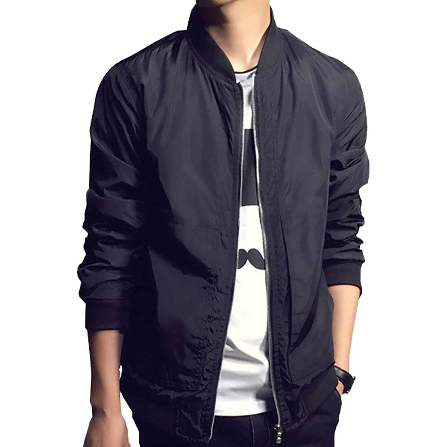 Nantersan Mens Casual Jacket Outdoor Lightweight Bomber Jackets ...