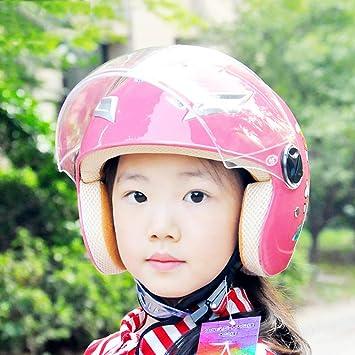 HLeoz Casco de Moto Infantil, Casco de Bicicleta para niños Casco ...