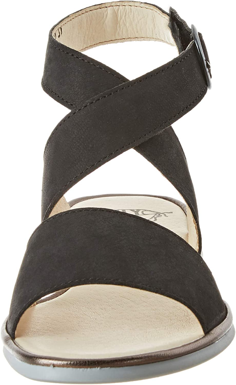 Vlieg Londen vrouwen Clop009fly enkel riem sandalen Black Black Bronze 000