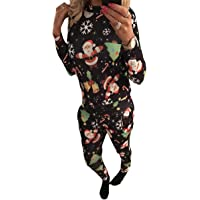 Howme-Women 2 Piece Christmas Eve Lounge Floral Printed Fitness Training Set
