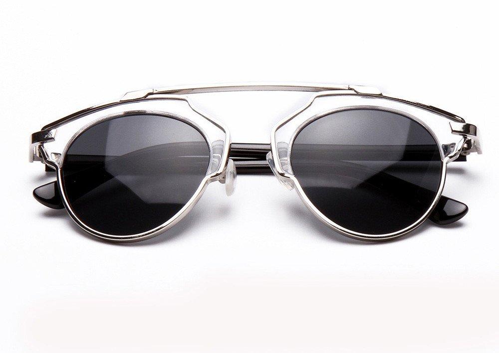 Pinleg Women Men Sunglasses Vintage Retro Glasses Unisex Fashion Mirror Lens Unisex Polarized Sunglasses (G) by Pinleg (Image #1)