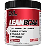 Evlution Nutrition LeanBCAA, BCAA's, CLA and L-Carnitine, Stimulant-Free, Recover and Burn Fat, Sugar and Gluten Free…