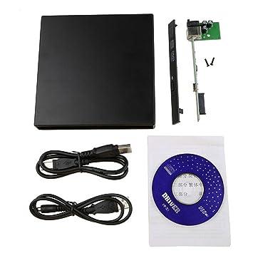 Gosear Portátil SATA a USB 2.0 DVD CD-ROM Carcasa para Laptop Notebook Hardware accesorio