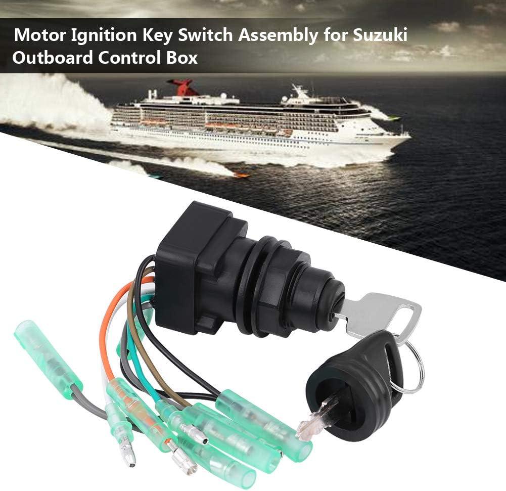 KIMISS Interruptor de encendido de motor para Outboard Control Box 37110-99E00 37110-92E01