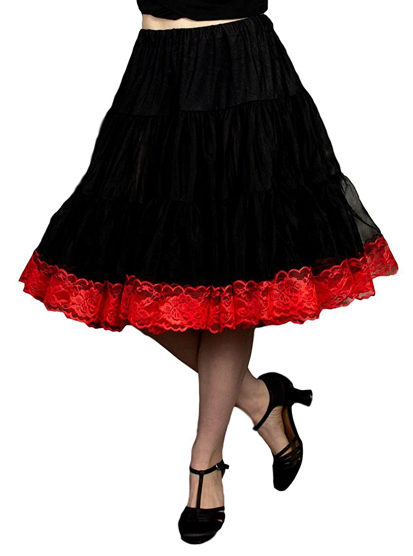 9b7b50ec4 Malco Modes Zooey Knee Length Women's Chiffon Petticoat Slip with Lace  Bottom for a Soft Minimal Increase in Skirt Volume at Amazon Women's  Clothing store: ...