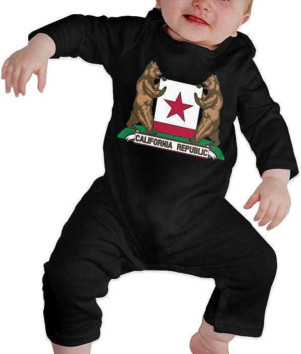 Fashion British Flag Sleepwear U88oi-8 Short Sleeve Cotton Rompers for Unisex Baby