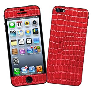 Red Gator Protective Decal Skin for iPhone 5