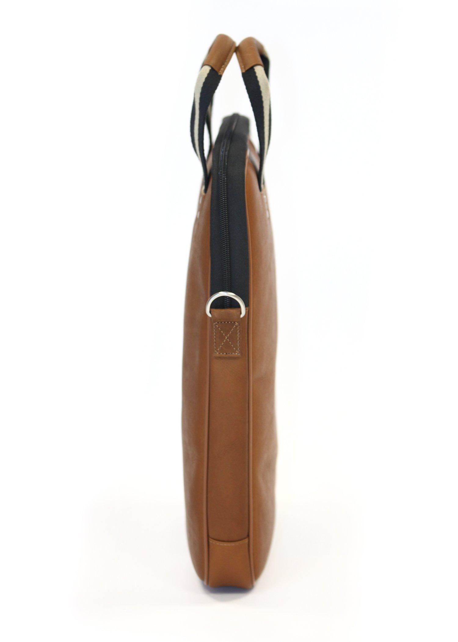 Jack by Jill-e Designs, Lenox 15'' Leather Laptop Portfolio, Tan (419484)