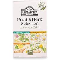 Ahmad Tea Fruit & Herb Selection of 4 Infusions, 20 Enveloped Teabags, 1600-U