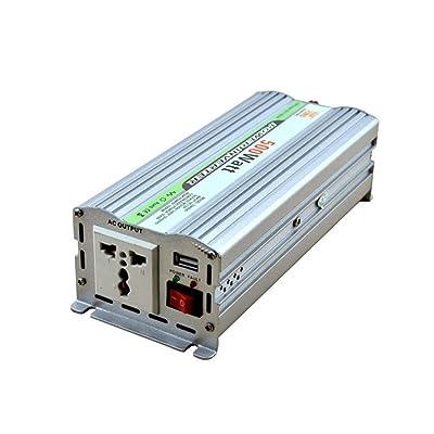 DWAN55 Inversor de corriente multifunción 500 W DC 12 V a CA 220V Convertidor de alimentación USB Fuente de alimentación del inversor para acampar al aire libre Refrigerador Teléfono móvil L