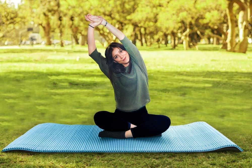 lentra/înement et la formation polyvalente la piscine et la plage Ondul/é dun c/&oci mais il est aussi parfait pour la gymnastique le Pilates le yoga le fitness Mondaplen/® Outdoor and Gym Mat : tapis r/éversible pour le camping