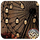 GIAGY 13.1FT 40 LED Copper Wire Starry Fairy Lights, 4.9FT 10 LEDs Battery Mini Retro Kerosene Lanterns, Flexible Romantic Warm Lighting for Home,Party,Holloween,Thanksgiving Decor & Christmas Décor