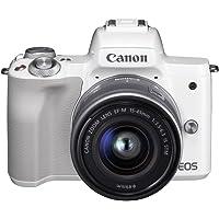 Canon EOS M50 EF-M15-45mm Kit 4K Mirrorless Camera, White