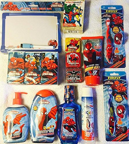 Marvel Spider-Man 15 Piece Bath Gift Set: Dry-Erase Remin...