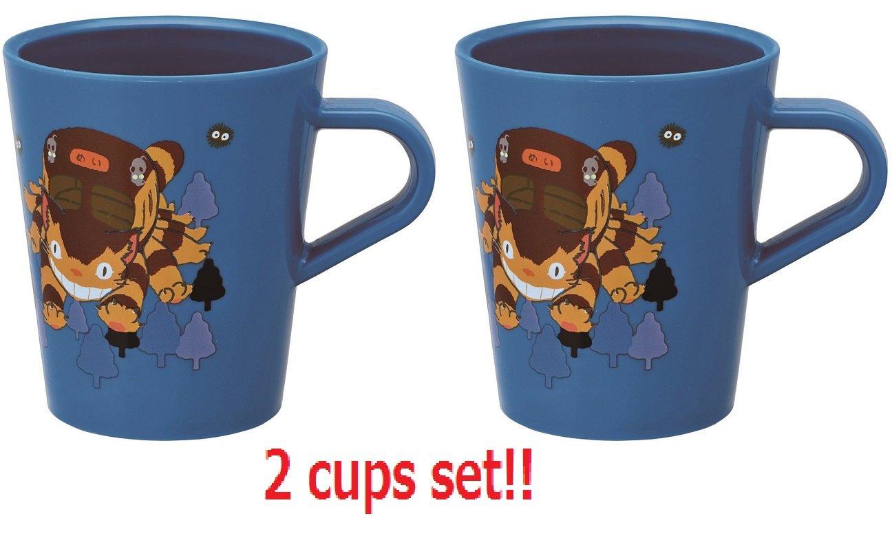 [2 cups set] Skater Studio Ghibli My Neighbor Totoro Cat Bus Plastic Mug Cup KP5 capable of washing machine
