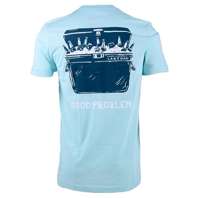 Amazon com: Lake Dad S/S Good Problem Seafoam S Mens Shirt