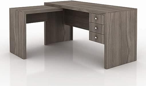 Tecnomobili Reversible Office Desk, Light Brown, 75 x 155 x 127 cm