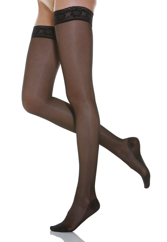 Relaxsan Basic 870 calze elastiche autoreggenti 140 den compressione graduata GT Calze
