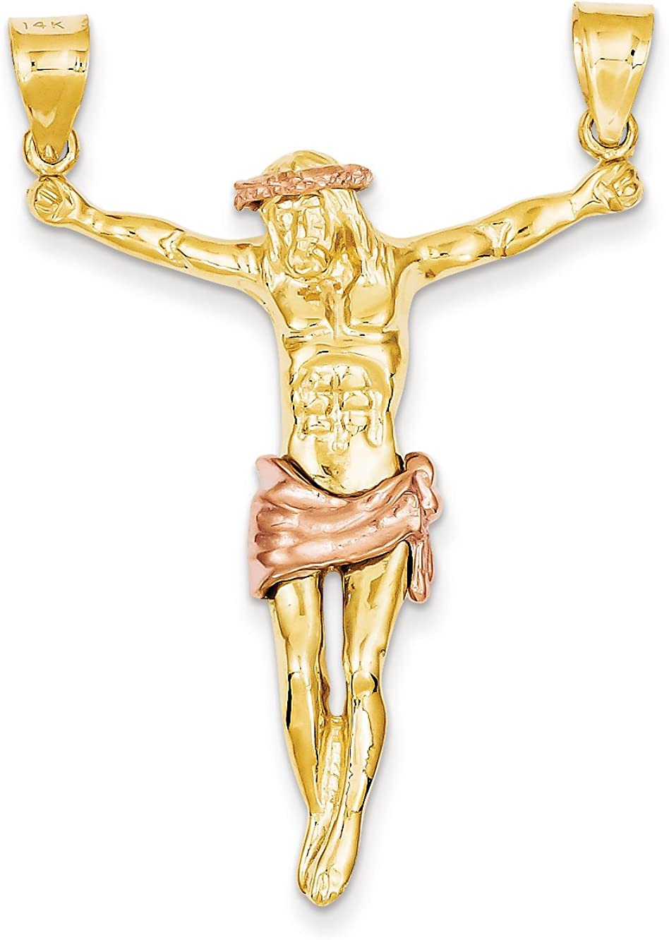 14K Rose-and-Yellow-Gold Two-tone Rose Corpus Pendant