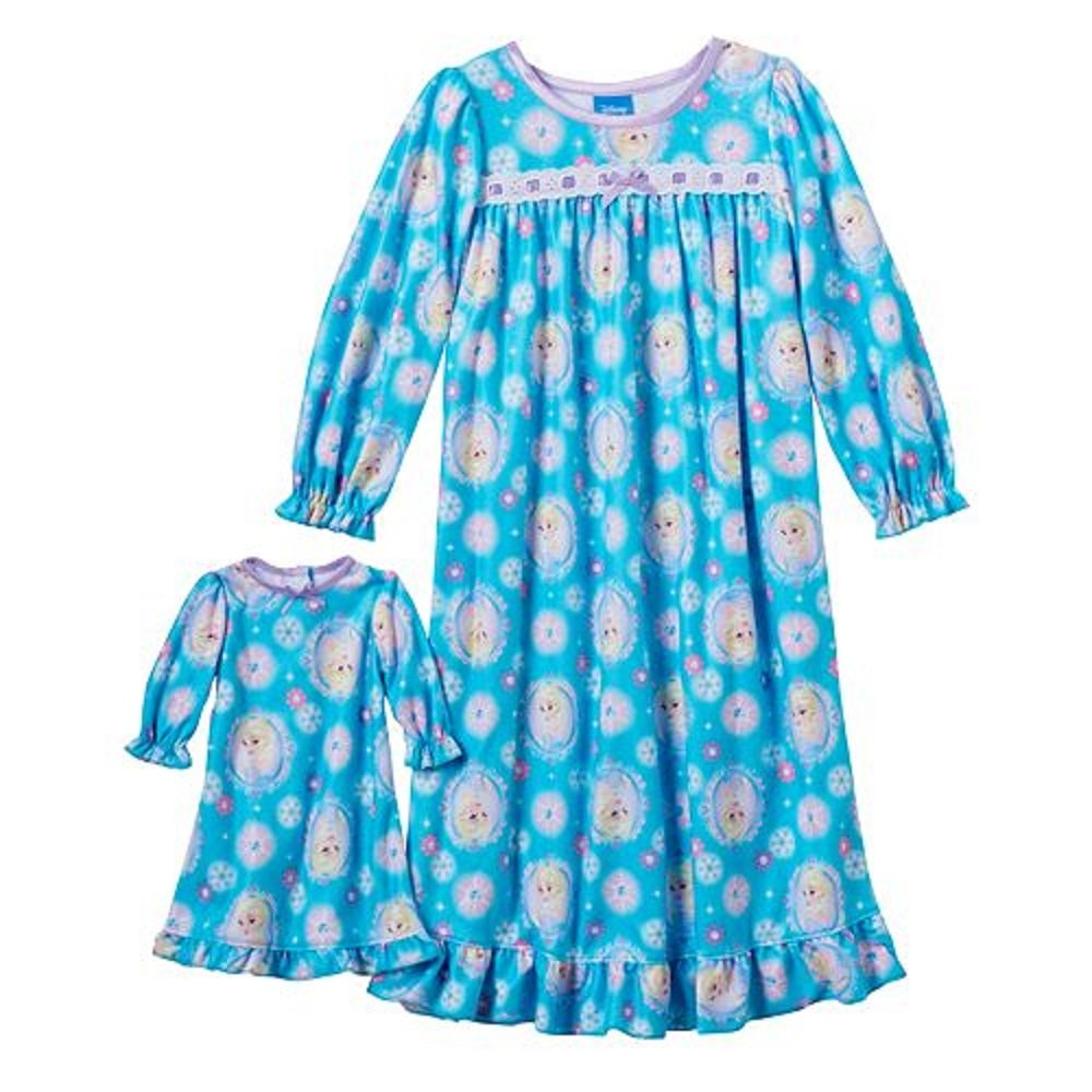 Amazon.com: Disney\'s Frozen Nightgown & Matching Doll Gown Set ...