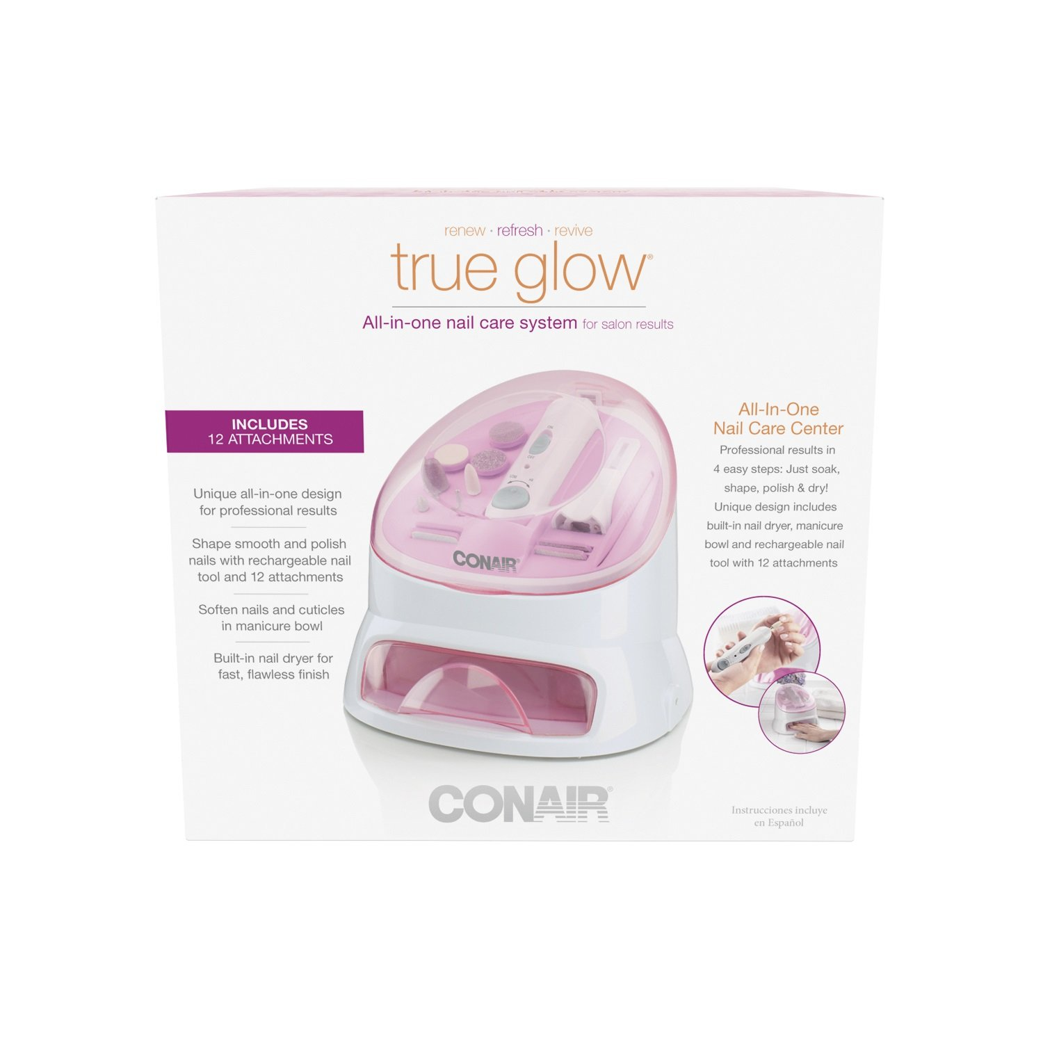 Amazon.com : True Glow by Conair All-in-One Nail Care Center : Beauty