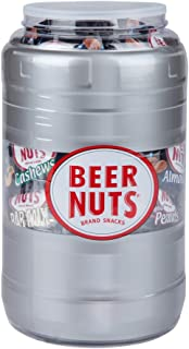 product image for BEER NUTS Assorted Mix Keg - 48-Count Single Serve Bags, Sweet and Salty Assortment Including Peanuts, Cashews, Almonds and Original Bar Mix