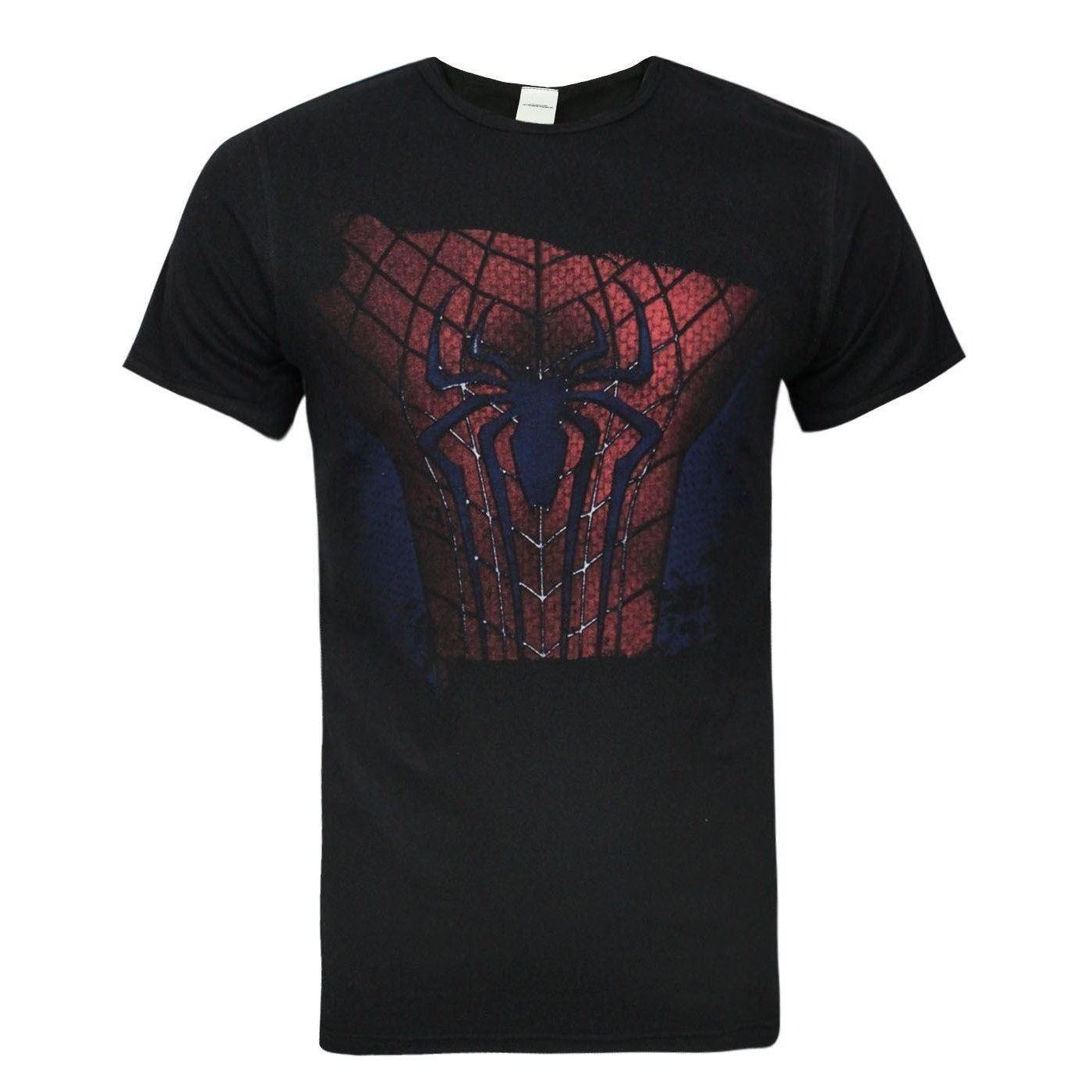 Spiderman - Camiseta Oficial con diseño de Traje Rasgado en el ...