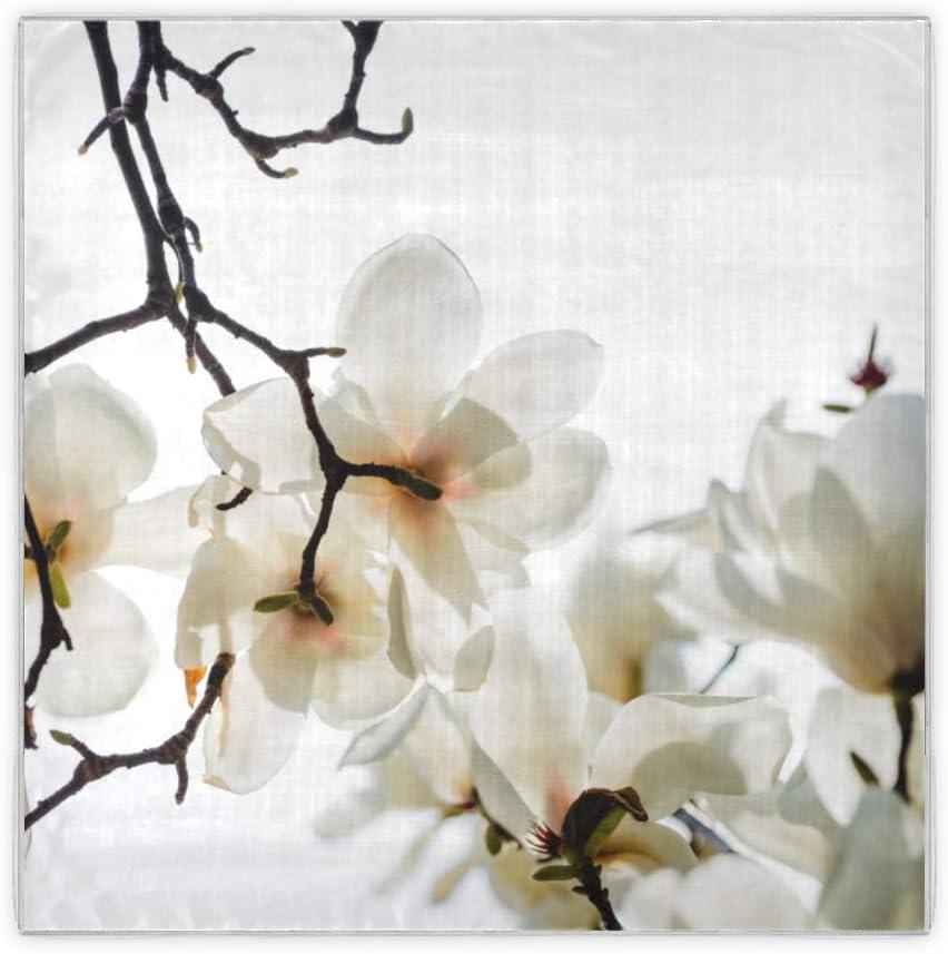 Encantadoras orquídeas en flor Bandanas para el cabello para mujeres Bufandas con patrón de moda para mujeres Regalos para mujeres Bufandas cuadradas de 35x35 pulgadas