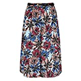 YUMI. Womens/Ladies Flower Culottes (6 US) (Multi Color)