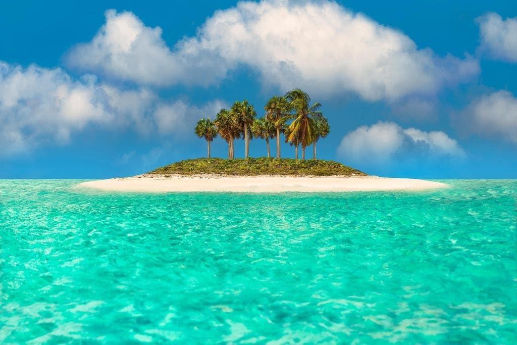 Turquoise Paradise Beach Beach 03496 Canvas Print Wall Art
