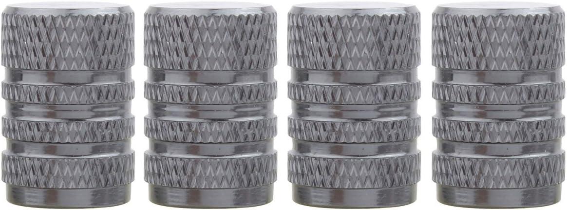 Tomall Round Style Felgen Reifen Ventilkappen Chrom Grau Für Auto Fahrrad Van Auto