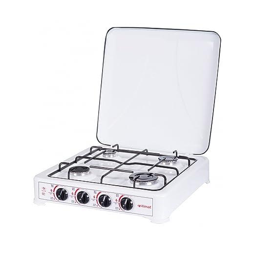 Amazon.com: 4 quemadores GLP Cocina de gas con tapa I-15 ...