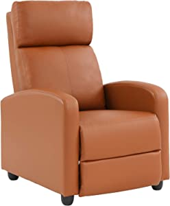 Recliner Chair for Living Room Reading Chair Home Theater Seating Reclining Chair Recliner Sofa Winback Chair Single Sofa Modern Easy Lounge with PU Leather Padded Seat Backrest