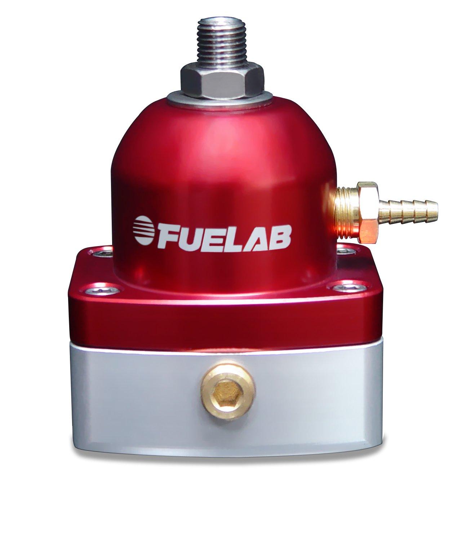 Fuelab 52501-2 Universal Red In-Line EFI Adjustable Fuel Pressure Regulator by Fuelab