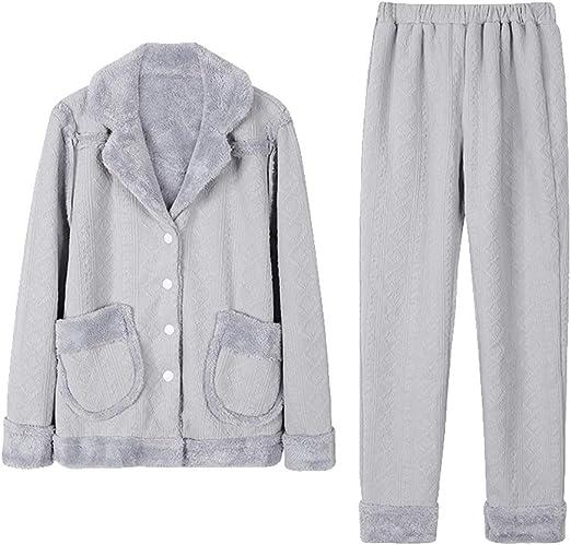 Higuo Conjunto de 2 Piezas Pijamas Mujeres Chándal Compuesto ...