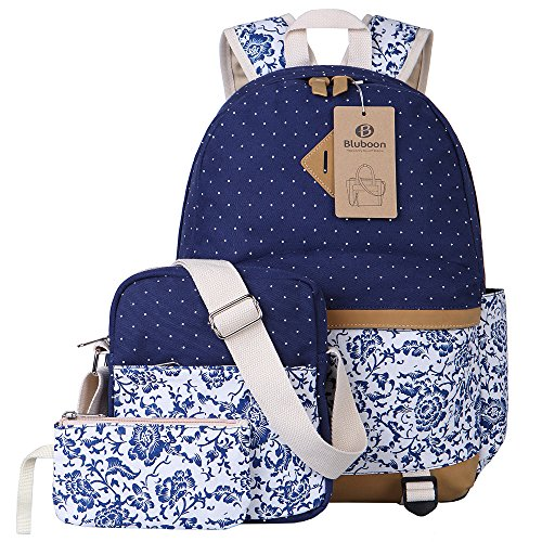 Teens Backpack Canvas School Bookbags