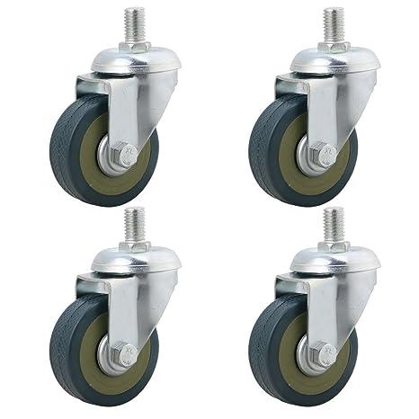 rdexp 50 mm de diámetro luz azul hierro tallo ruedas ruedas polipropileno rueda Caster para Silla